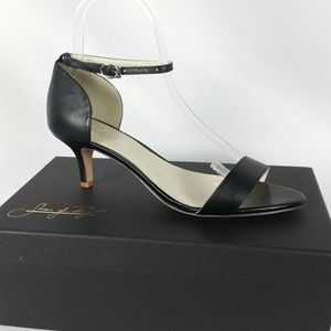 NEW Shoes of Prey 39 Black Ankle Strap Sandal